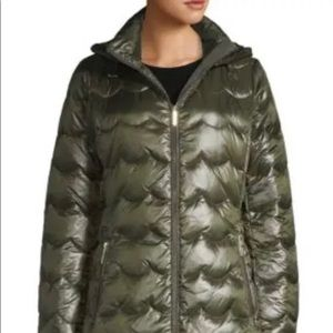 Kate Spade Down Puffer Coat Down Scallop Coat NWT